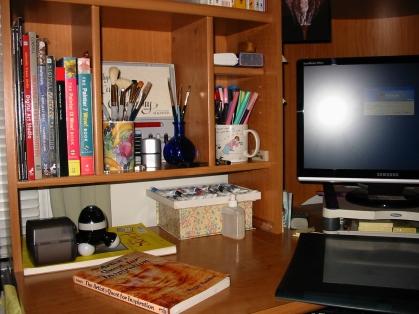 Rose's computer work area