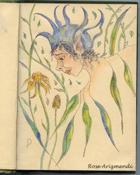 Fairy garden-doodles
